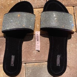Victoria's secret black sequin slippers